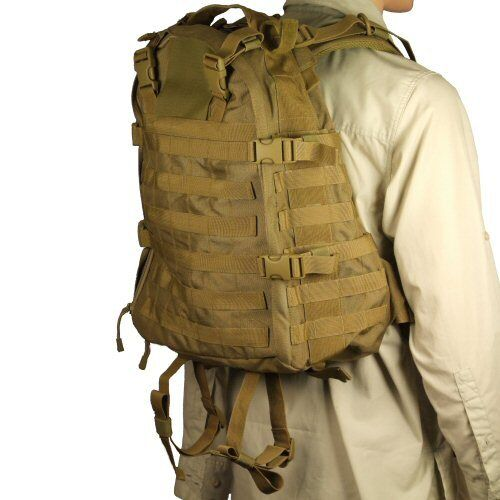 New Bulle Tan MOLLE Webbing Tactical Pack 20l Daypack Bug Out Tasche