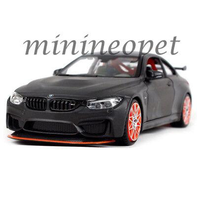 Matte Grey Car >> Maisto 31246 Bmw M4 Gts 1 24 Diecast Model Car W Orange Wheels Dark Matte Grey Ebay