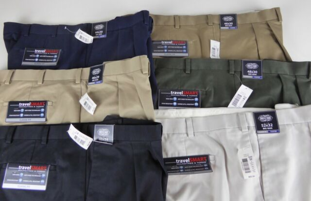 Roundtree /& Yorke Casuals Cotton Chino 5 Pocket Stretch Classic Fit Pants NWT