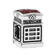 New Authentic Pandora Charm 791202EN49  London Calling Enamel Box Included