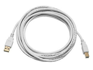 Details about USB Cable Cord For Cricut Expression & Cricut Expression 2,  White, 10ft