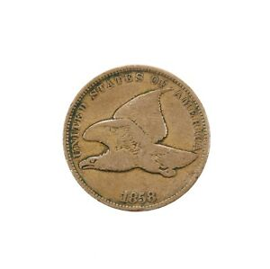 Raw-1858-Flying-Eagle-1C-Uncertified-Ungraded-Circ-US-Copper-Small-Cent-Coin