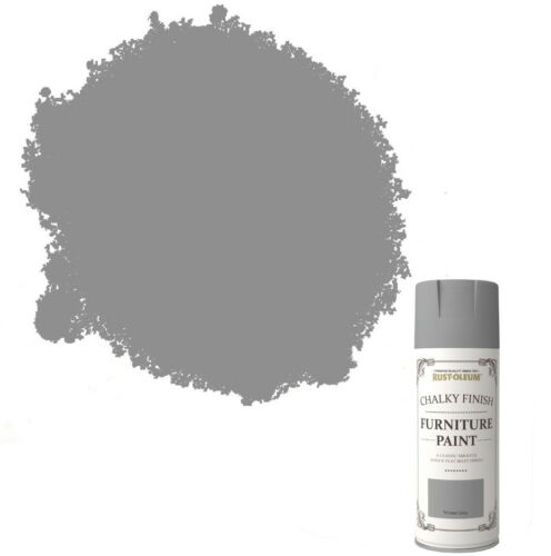 x23 RustOleum Chalk Chalky Furniture Spray Paint Shabby Chic 400ml Winter Grey