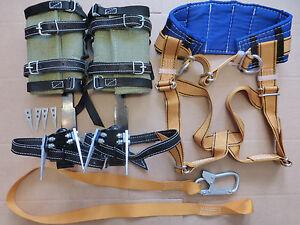 Klettergurt Industrie : Baumsteigeisen baumpflege und sicherheitsgurt klettergurt ebay
