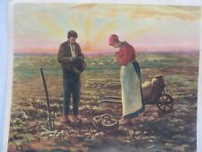 Litho ARTIST SINGED prints OF FAMOUS PAINTINGS THE ANGELUS & MORE 8 PCS ORIGINAL