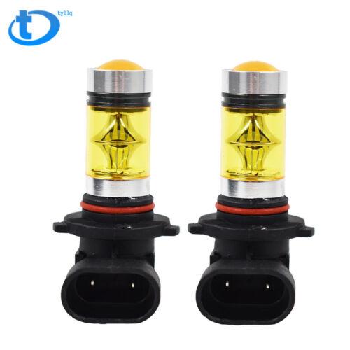2X 9006 HB4 100W  2323 LED 4300K YELLOW Fog Driving Light Bulbs USA