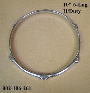 """Ring Drums new Unused Rim for Tom Toms Hoop Black 10"""" 4 Lug"""