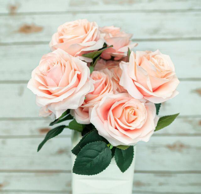 10 Head French Rose Silk Flower Arrangement Artificial Fake Bouquet Wedding Room For Sale Online Ebay