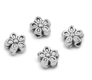 L-P-150-aelter-Silber-Blumen-Spacer-Perlen-Beads-7mm