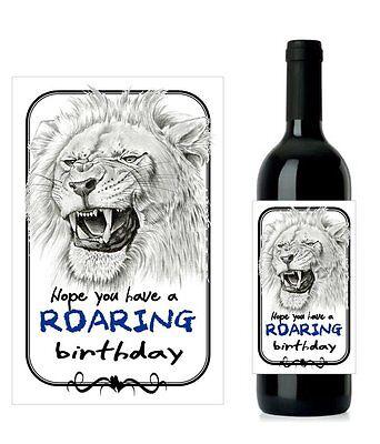 set 2 #F2 Personalised Fishing Birthday Wine Labels 12.7cm x 8.4cm
