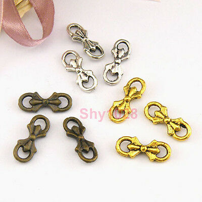 25Pcs Tibetan Silver,Gold,Bronze Tiny Tie Charms Pendants Connectors M1439