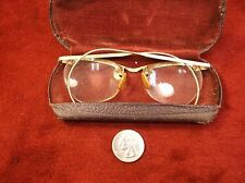 #16, EXCEPTIONAL PAIR OF VTG ANTIQUE ART DECO ROSEY GOLD FILLED EYEGLASSES, CATS