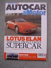 Autocar (10 Jan 1990) Elan, Mazda MX5, Mercedes 300E, Saab 2.3, Granada, Ginetta