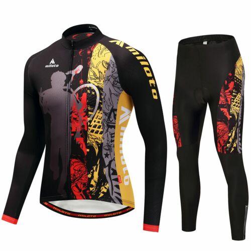 2020 Miloto Radsport Team Kleidung Langarm Radtrikot und Fahrradhose Lang Set