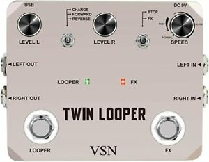 VSN-TWIN-LOOPER-for-guitar-vocals-bass-or-keys-top-quality-free-freight