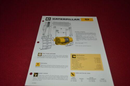 Caterpillar 53 Winch Dealer/'s Brochure DCPA6