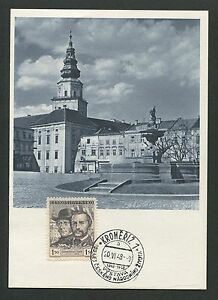 CSSR-MK-1948-KROMERIZ-MAXIMUMKARTE-CARTE-MAXIMUM-CARD-MC-CM-d4337
