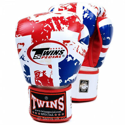 Twins Uk Flag Boxing Gloves 10oz 12oz 14oz 16oz Thai Kickboxing Sparring Fight Colours Are Striking Boxing, Martial Arts & Mma