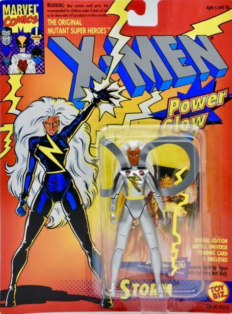 The Uncanny X-Men STORM Power Glow Action Figure Marvel Comics ToyBiz 1993