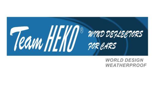 Ford Fiesta 1989-2001 Front wind deflectors 3 door 2pc set TINTED HEKO