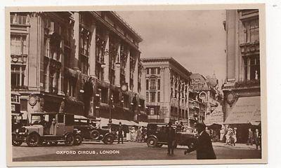 Oxford Circus London Vintage RP Postcard 0959
