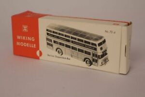 Wiking Modelle Berliner Double Decker Bus Dd-Bus Packaging H0 Scale Empty Box