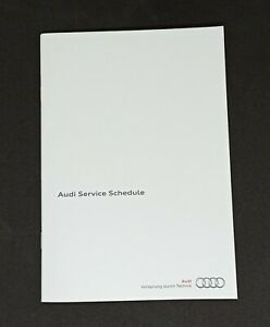 Replacement Log Book A1 A3 A4 A5 A6 TT Q3 Q5 Q7 S3 Audi Service History Book