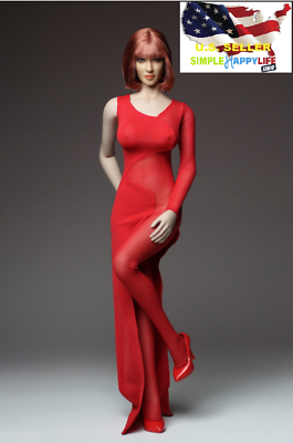 1//6 Red Cheongsam Ada Wong women dress for Hot toys Phicen kumik ❶US Seller❶
