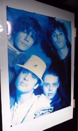 "Music Poster,vintage rare 24/""x 36/"" blue b4 Stone Roses"