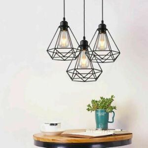 Modern-Ceiling-Pendant-Light-Fitting-Cage-Style-Wall-Pendant-Lights-Black-Shade