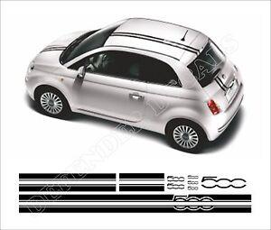 Details About Fiat 500 Stripes Abarth Racing Decals Sticker Set Aufkleber Adesivi Autocollant