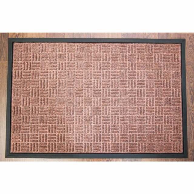 Brown Outdoor Entrance mat in Blue Doortex Ribmat heavy duty Indoor and Char