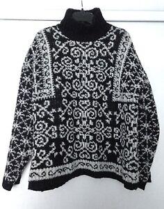 Maglione Corner bianco Ladies Jacquard L Lambswool 50 Casual Taglia nero qIapgwRqx