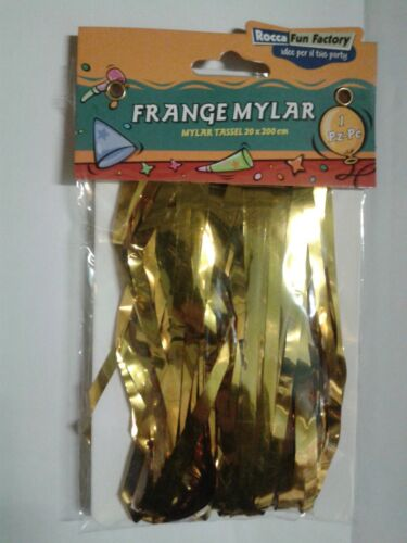 Fringes for Balloons Mylar with Adhesive 20 x 200cm Choose The Color