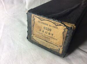 à Condition De Antique 1900 Automatique Papier Musique Piano Roll 9559 Faust-afficher Le Titre D'origine CaractéRistiques Exceptionnelles