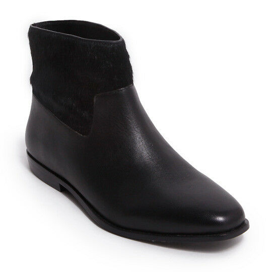 New Saint & Libertine Trinket Black Fur-Baby Calf Hair Ankle Bootie, Size 7
