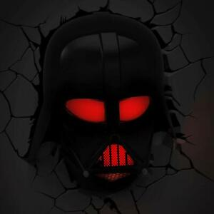 Star Wars Darth Vader Helmet 3d Deco Light Led Wall Fx Damaged Box New Read Ebay