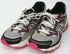 Details about Asics GT 1000 athletic sneakers silver pink navy women's US 7 EUR 38