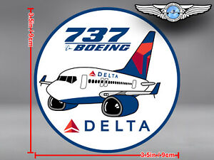 DELTA-AIR-LINES-ROUND-PUDGY-BOEING-B737-B-737-DECAL-STICKER
