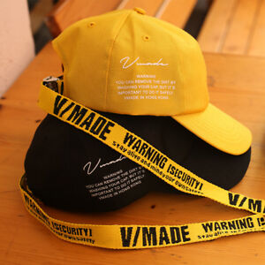 06534ffd282 Image is loading Unisex-Vmade-Long-Yellow-Safety-Strap-Ball-Cap-