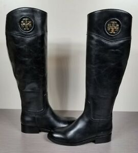 6a77ac0b84ef Image is loading Tory-Burch-Ashlynn-Riding-Boot-Black-Leather-Womens-