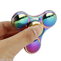 Rainbow Hand Spinner Tri Fidget Attention Focus Toys Kids/adults 6-8min Spin【us】