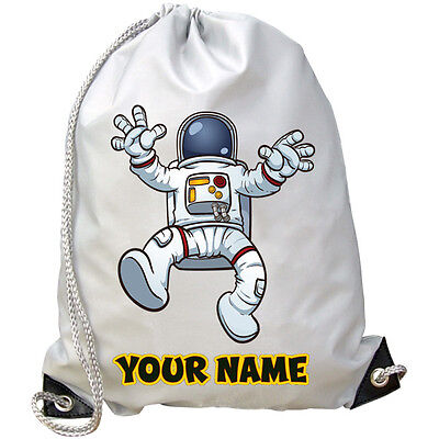 Astronauta Spazio Personalizzato Palestra / Pe / Dance / Nuoto Borsa * Kids Regalo & Denominata *-mostra Il Titolo Originale Colore Veloce