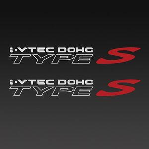 "Acura I-Vtec Dohc RSX Type S, Quarter Panel Decal, 1 Pair Set, Gray 11.5"" x 1.5"" | eBay"