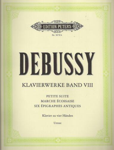 Debussy Klavierwerke Band VIII für Klavier zu vier Händen