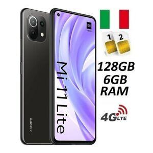 XIAOMI MI 11 LITE 4G DUAL SIM 128GB 6GB RAM BLACK GARANZIA ITALIA NO BRAND