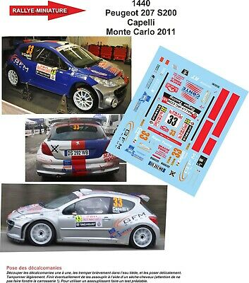 Decals 1//43 peugeot 207 s2000 #6 monte carlo-sarrazin 2010-colorado 43191