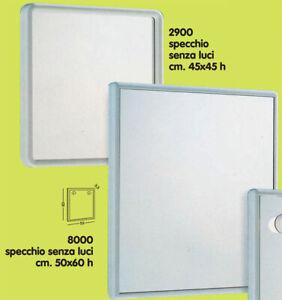 Miroir Blanc Gedy Miroirs de Salle de Bain avec Cadre Résine 45x4x45 ...