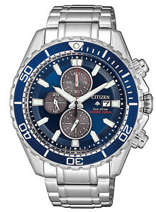 Citizen-Promaster-Men-039-s-Watch-Eco-Diver-039-s-Chronograph-Chrono-CA0710-2772-7oz