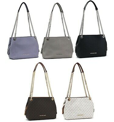 Michael Kors Jet Set Chain Medium Messenger Shoulder Bag Purse | eBay